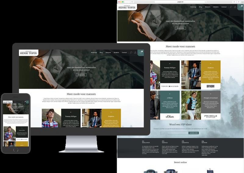 Website template voor Webwinkel, MKB