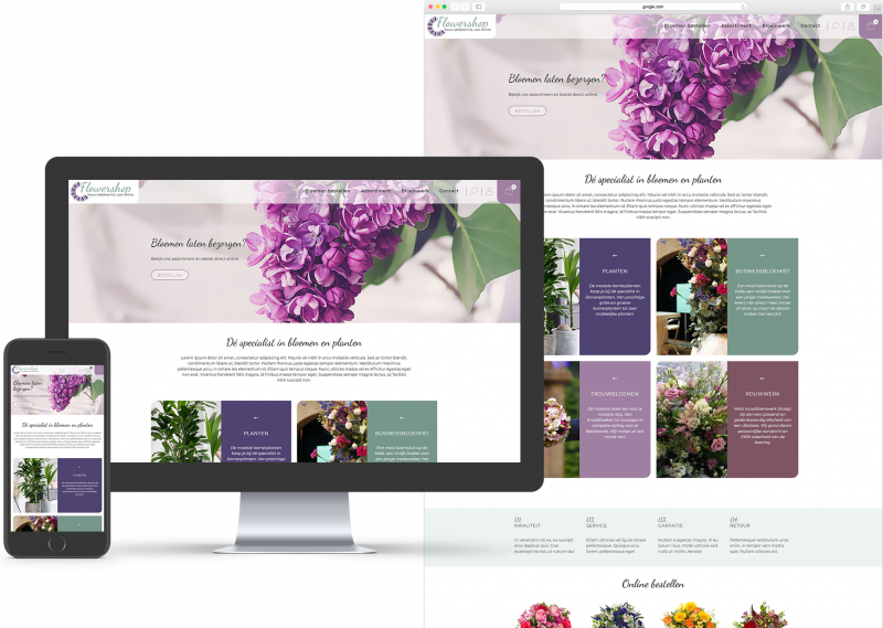 Website template voor MKB, Bezorgen