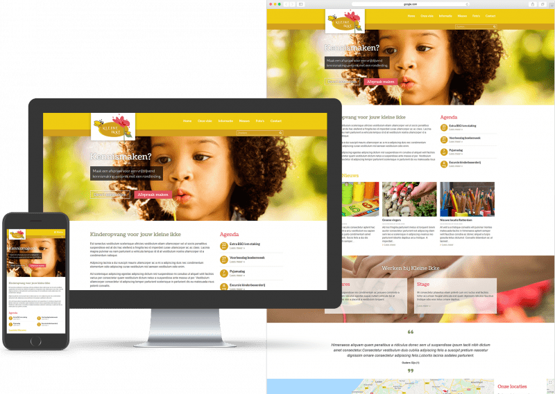 Bright Colors - Kids template