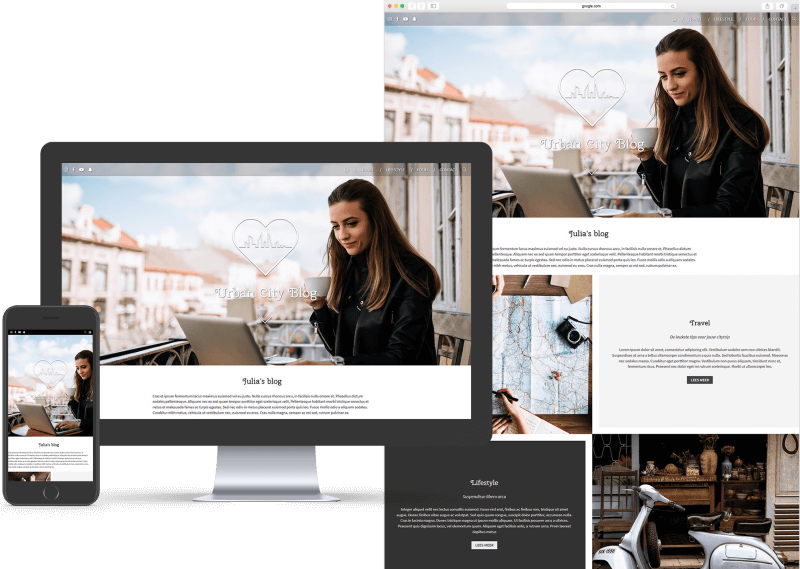 Website template voor Blog