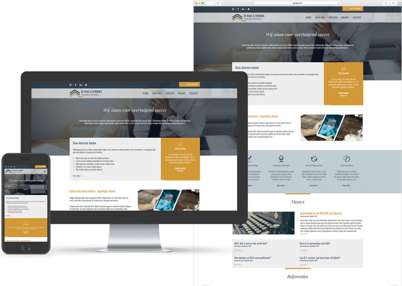 Website template voor Coaching, MKB