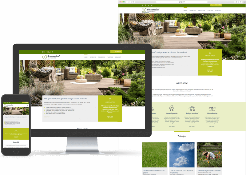 Website template voor MKB