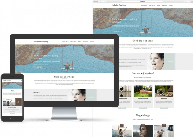 Website template voor Coaching
