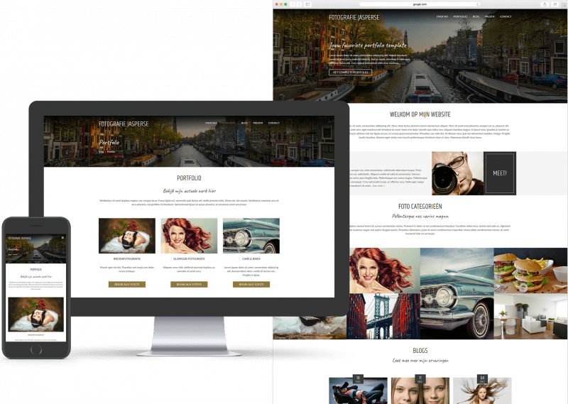 Website template voor Fotografie