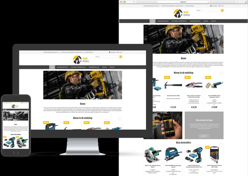 Website template voor Webwinkel